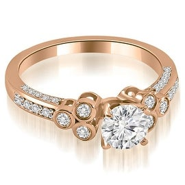 1.17 cttw. 14K Rose Gold Round Cut Diamond Engagement Ring