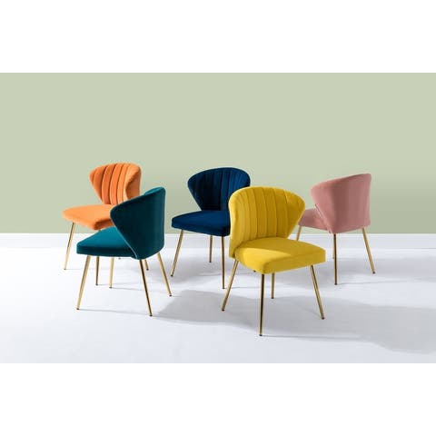 Milia Upholstered Premium Velvet Dining Chair (Set of 2)
