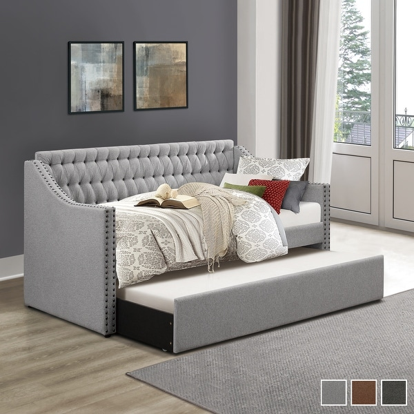 Emile Upholstered Daybed with Trundle. Opens flyout.