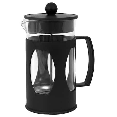 20 Oz. Glass French Press Coffee Tea Maker, Black