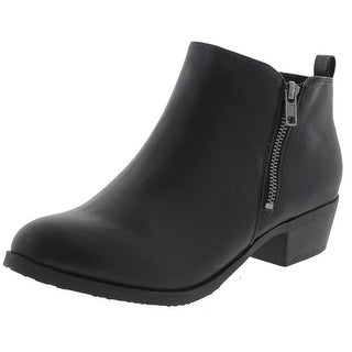 Jellypop Womens Erika Ankle Boots Faux Leather Booties