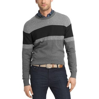 Izod Mens Pullover Sweater Colorblocked Long Sleeve