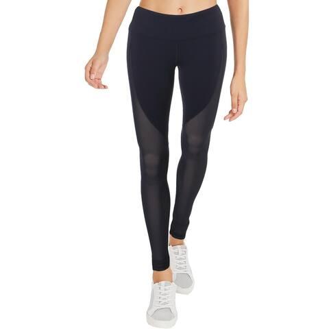 Alo Yoga Womens Rich Motion Athletic Leggings Mesh Panel Fitness - M