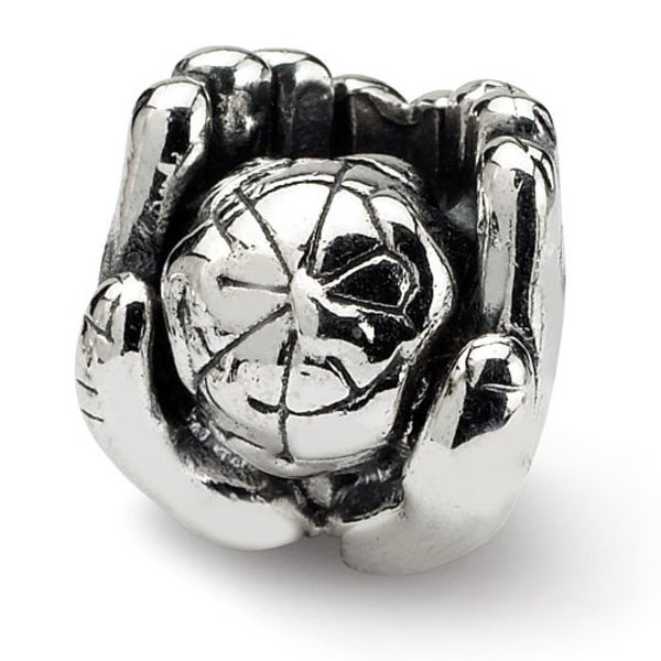 Sterling Silver Reflections World in Hands Bead (4mm Diameter Hole)