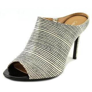 Calvin Klein Nola Women Open-Toe Synthetic Black Mules