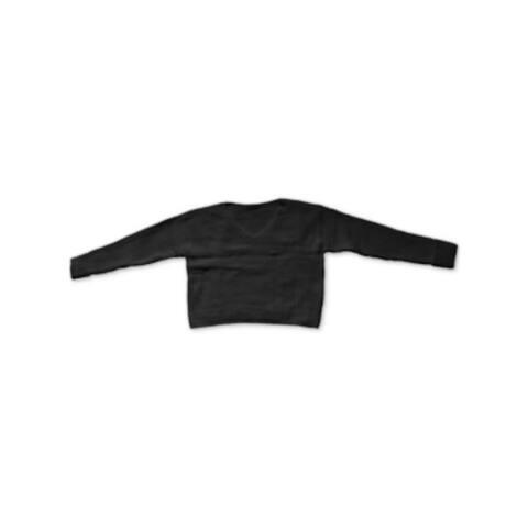 BAR III Womens Black Cuffed V Neck Sweater Size S