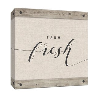 """PTM Images 9-147850  PTM Canvas Collection 12"""" x 12"""" - """"Farm Fresh"""" Giclee Text and Symbols Art Print on Canvas"""