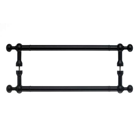 """Top Knobs M836-18pair Somerset Collection 18"""" Center to Center Patina Black Weston Back to Back Door Pull Pair"""