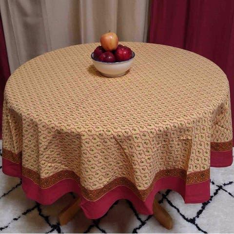Cotton Floral Vine Round Tablecloth Square Table Linens Napkins Placemats