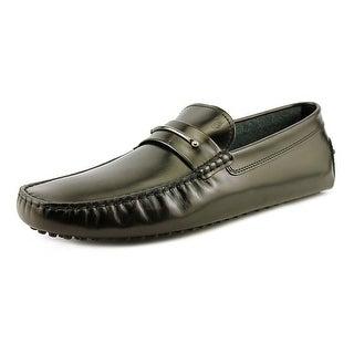 Tod's Lingotto New Gommini 122 Men Moc Toe Leather Black Loafer