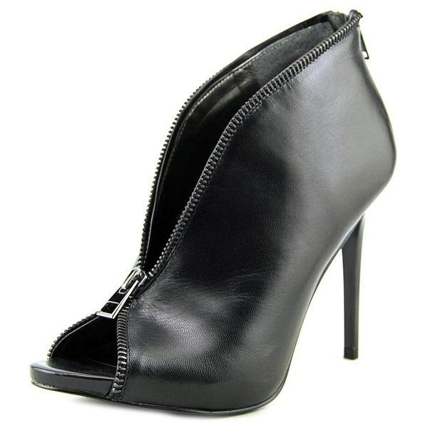 Carlos by Carlos Santana Veruca Women Peep-Toe Leather Black Bootie