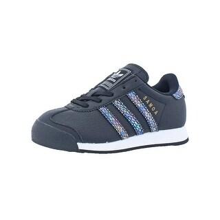 Adidas Girls Samoa C Snake Sneakers Iridescent Ortholite - 12 medium (b,m) little kid