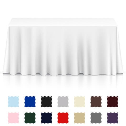 Lann's Linens - 5 Premium Tablecloths for Wedding/Banquet/Restaurant -
