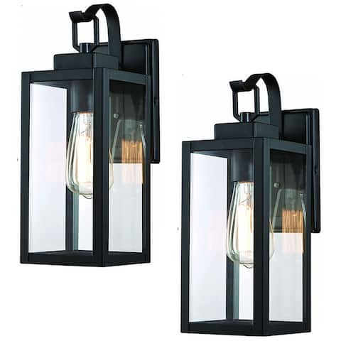"""2 Pack 1-Light Outdoor Wall Sconce - 5""""x6.7""""x13.78"""""""