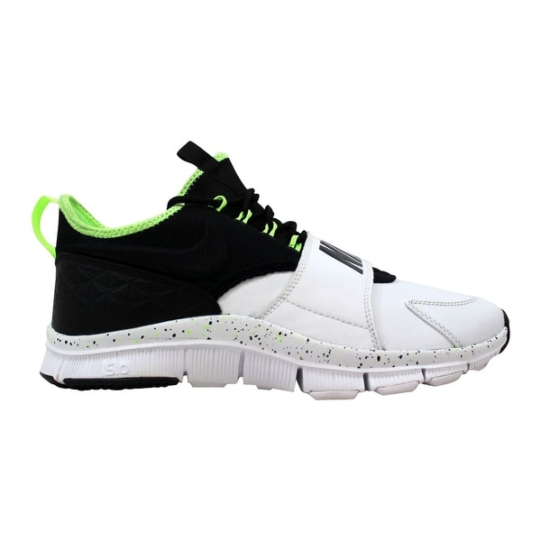 low priced edfd3 4728a Shop Nike Free Ace Leather White/Black-Ghost Green Men's 749627-100 ...