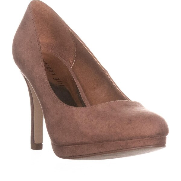 MG35 Dolce Platform Classic Pumps, Dark Nude - 9 us