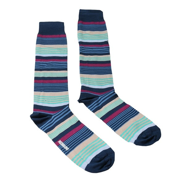 Missoni GM00CMU4952 0002 Blue/Green Knee Length Socks - M