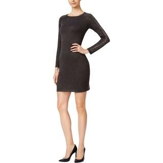 Calvin Klein Womens Petites Sweaterdress Studded Long Sleeve - pm