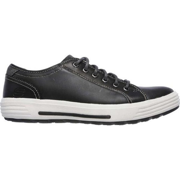 Shop Skechers Men's Relaxed Fit Porter Ressen Sneaker Black