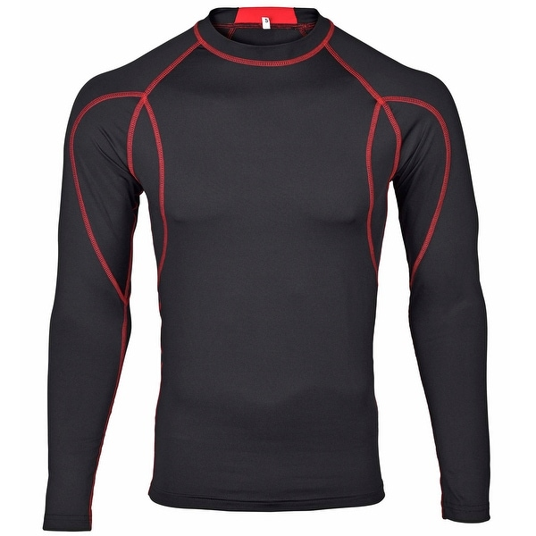WICKED STOCK Men's Cool Dry Long Sleeve Compression Shirt Top FSF-2