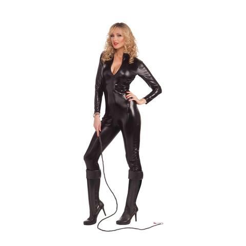 Sexy Feline Woman Black Bodysuit Adult Costume