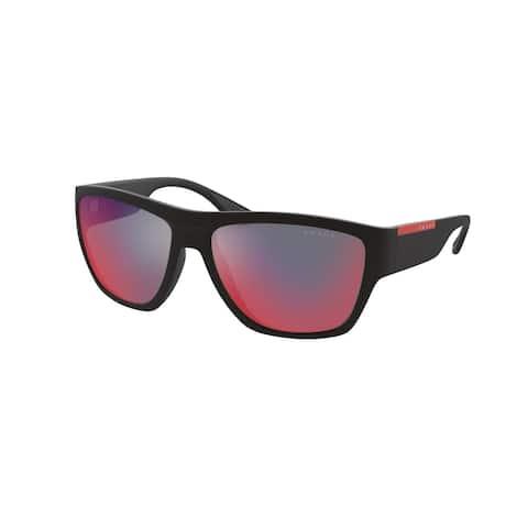 Prada Linea Rossa PS 08VS DG008F 59 Rubber Black Man Pillow Sunglasses