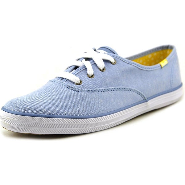 Keds Champion Chamb Women Round Toe Canvas Blue Sneakers