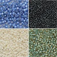 Exclusive Beadaholique Toho Seed Bead Palette, Round Mix, 32 Grams, Tide Pool