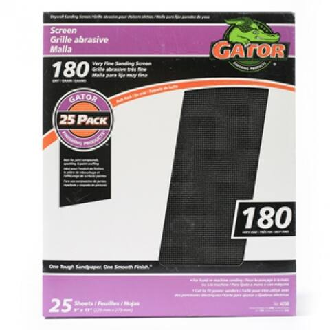 "Gator 4250 Drywall Sanding Screen, 180 Grit, 9"" x 11"""