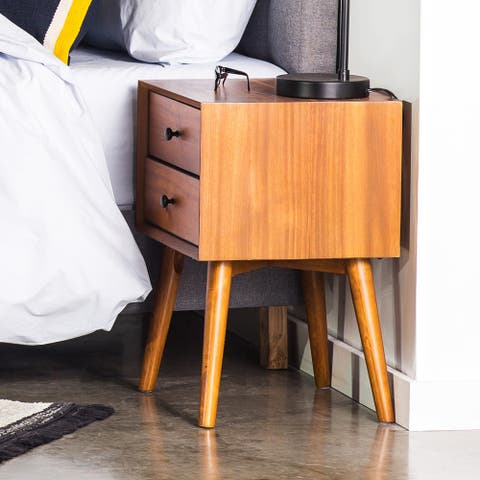 EdgeMod Dorsey Acacia Wood Nightstand