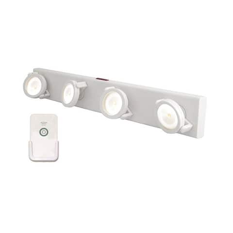 Rite Lite LPL704WRC Under The Cabinet 4 Head Led Light With Remote