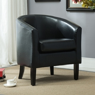 Furniture Of America Carter Red Bicast Leather Accent