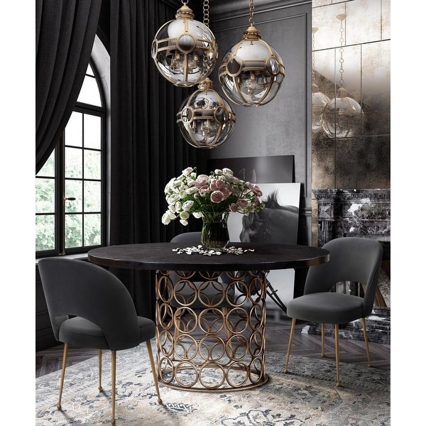 Valentina Brass Round Dining Table. Opens flyout.