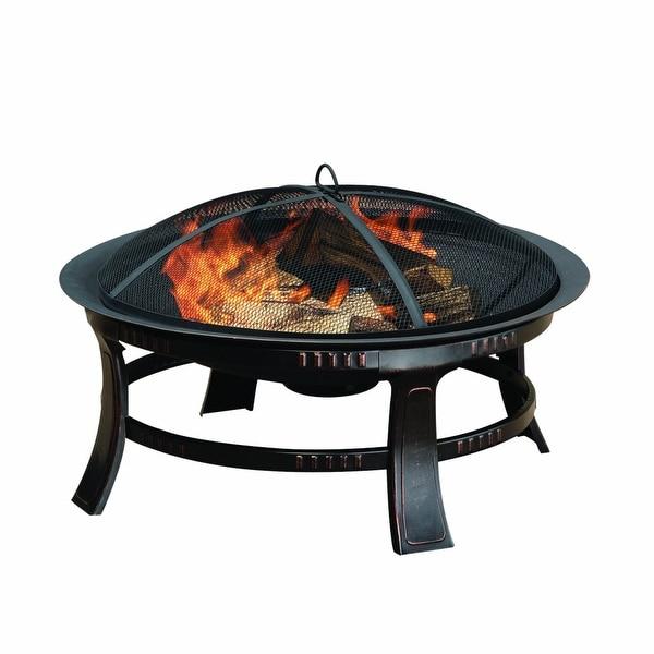 Pleasant Hearth OFW106R 30 Inch Brant Fire Pit - bronze