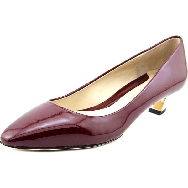 Carolinna Espinosa Bonnie Women Round Toe Patent Leather Red Heels