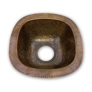 "Houzer HW-SCHBF Hammerwerks 12-1/2"" Single Basin Undermount Hammered Copper Bar Sink (2 options available)"
