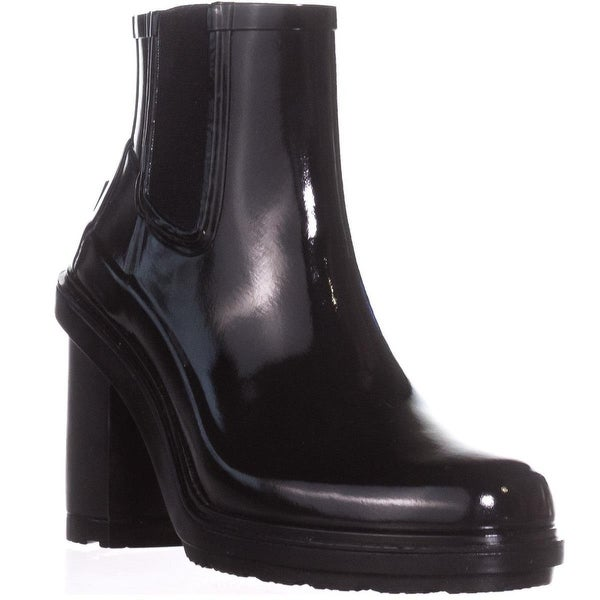 Hunter Original Refined Waterproof Ankle Boots, Black