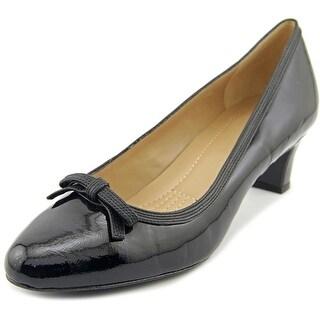 Easy Spirit Ranielle Women W Pointed Toe Patent Leather Black Heels