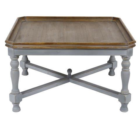"""Alyson 33"""" Square Gray Wooden Coffee Table - 33"""" Sq x 19.5""""H"""