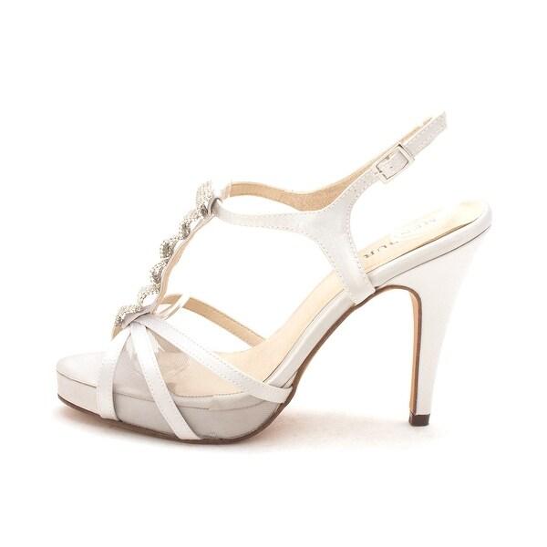 Menbur Womens Pearl Open Toe Ankle Strap Classic Pumps - 6.5