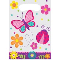 Club Pack of 96 Pink and Blue Butterfly Garden Decorative Loot Bag 12""