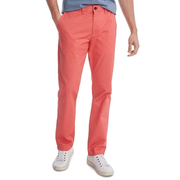 Tommy Hilfiger Mens Pants Pink Size 38x30 Custom Slim Fit Chino Stretch. Opens flyout.