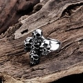 Vienna Jewelry Abstract Angular Stainless Steel Skull Ring - Thumbnail 1