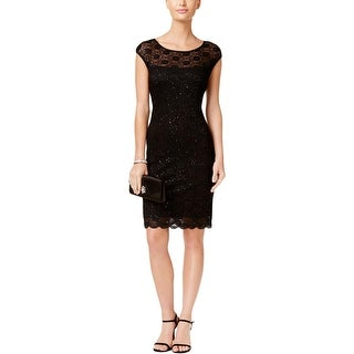 Connected Apparel Womens Cocktail Dress Sequined Lace (2 options available)