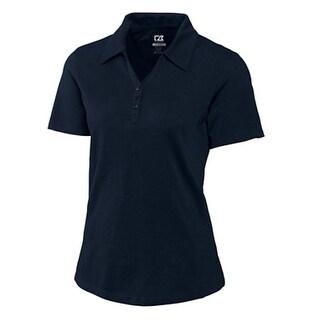 Cutter & Buck Women's Navy Blue XS CB Drytec Championship Short Sleeve Polo