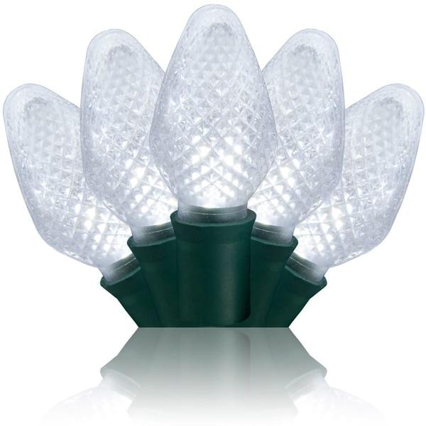 Wintergreen Lighting 20339 25 Bulb C7 Cool White LED Christmas String Lights