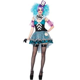 Leg Avenue Manic Mad Hatter Adult Costume - Blue/Purple