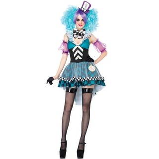 Leg Avenue Manic Mad Hatter Adult Costume - Blue/Purple