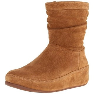 Fitflop Womens Crush Wedge Boots Suede Slouchy