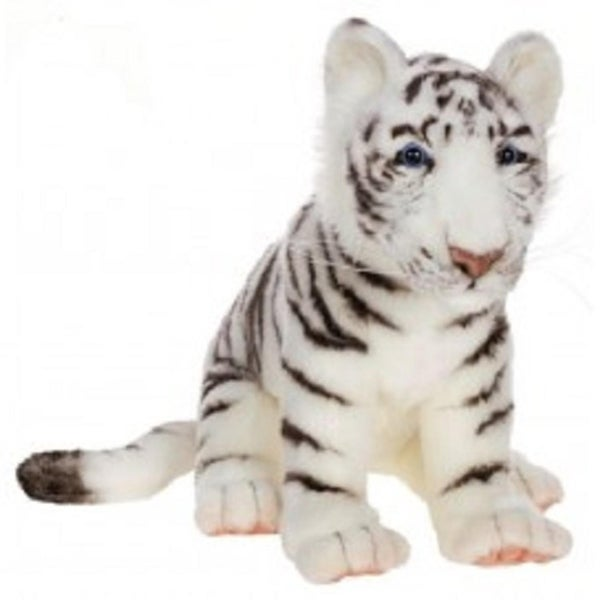 """Set of 2 Life-Like Handcrafted Extra Soft Plush White Tiger Cub Stuffed Animals 14.75"""". Opens flyout."""